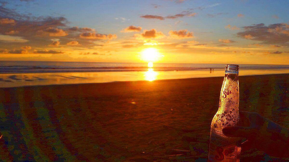 Sonnenuntergang bei, Jardin de los Monos, Costa Rica Hotel