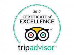 Certificado de excelencia de TripAdvisor 2017