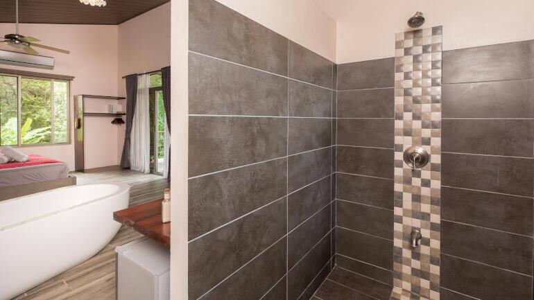 deluxe suite walk in shower