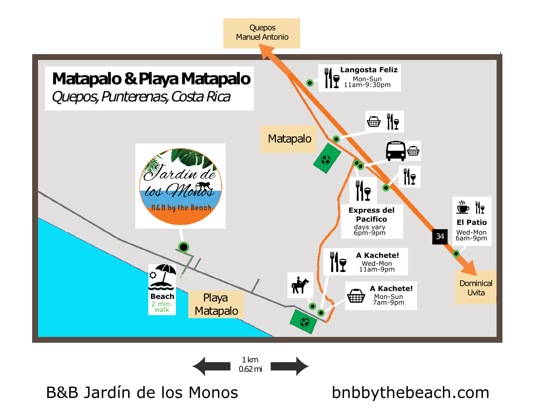 Playa Matapalo Costa Rica Map 2021